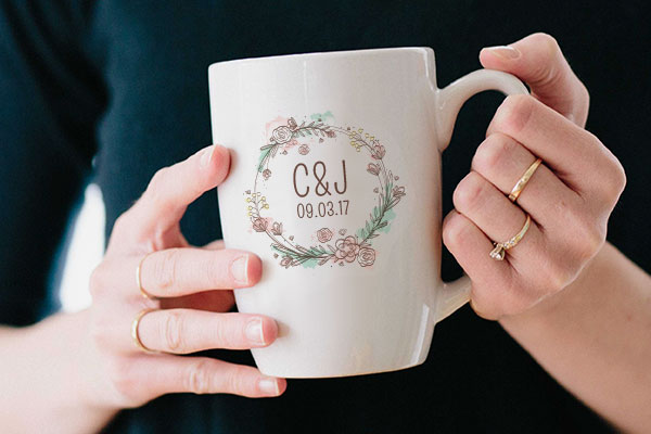 Ceramic Mug Transfer Wedding