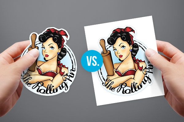 Die cut sticker singles vs kiss cut sticker singles