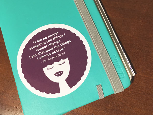 Angela Davis Custom Sticker