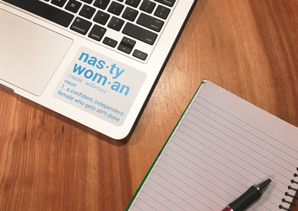 Laptop sticker Feminism quote