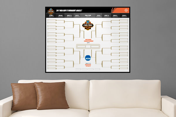 March Madness Bracket Wall Decal