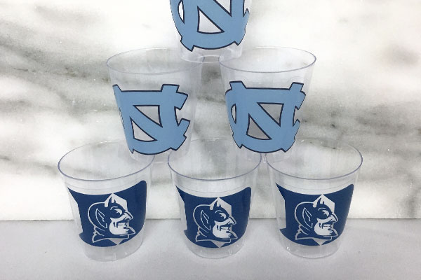 Custom sticker shot glasses