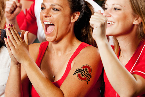 March Madness Custom Temporary Tattoos