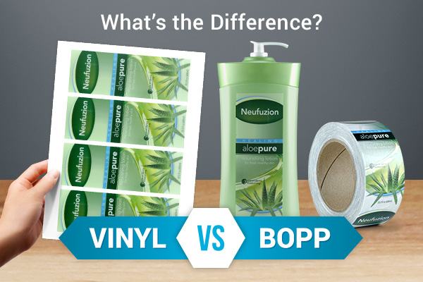 Removable vinyl vs. BOPP - What's the difference?