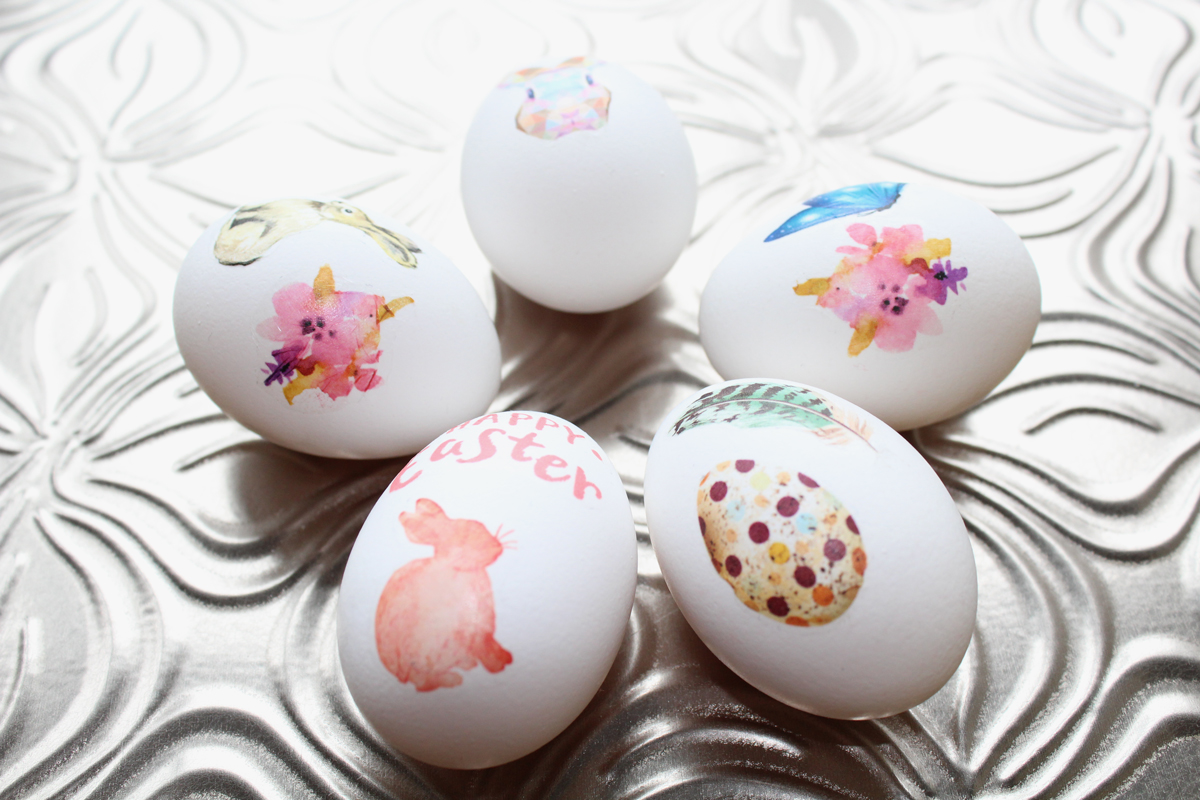 Custom temporary tattoo Easter eggs