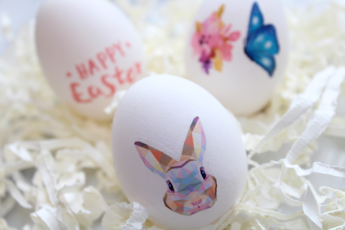Custom Easter Eggs with Temporary tattoos
