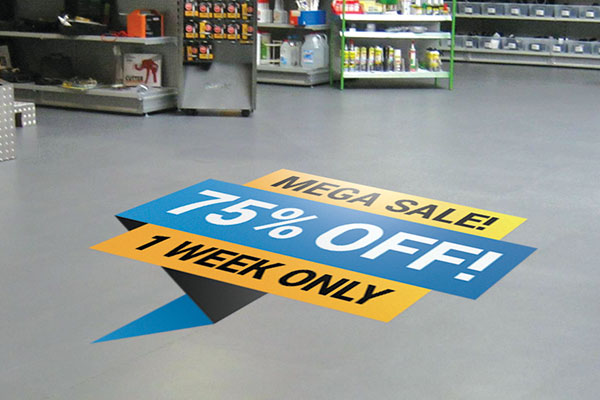 Sale custom floor decal