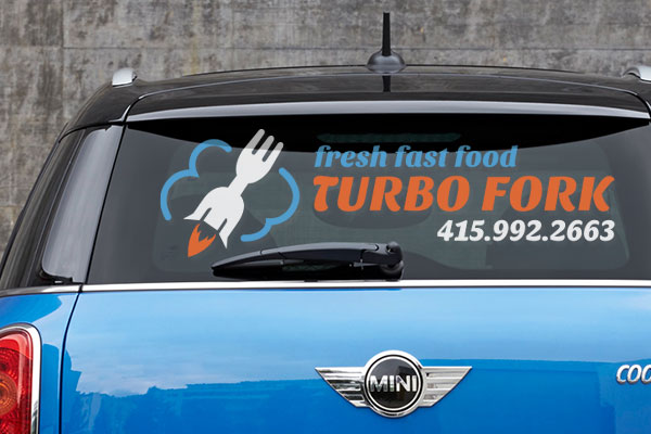 Custom car window decal