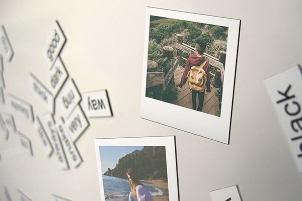 Custom travel photo magnets