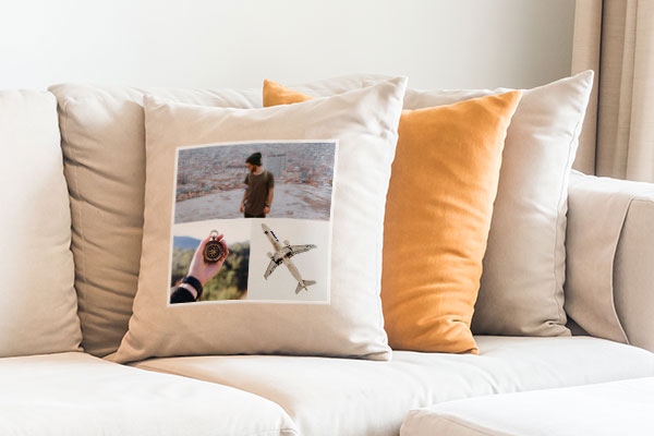 Travel photo custom iron-on transfer pillow