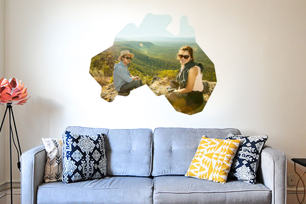 Travel photo wall decal