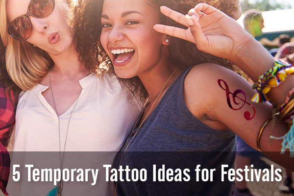 5 Temporary Tattoo Ideas for Festivals | StickerYou Blog