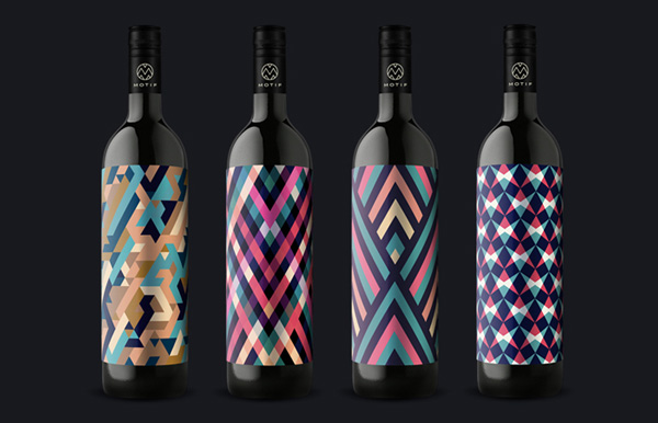 Beautiful Pattern Custom Label Design Art