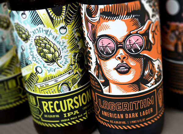 Illustrated Custom Bottle Labels