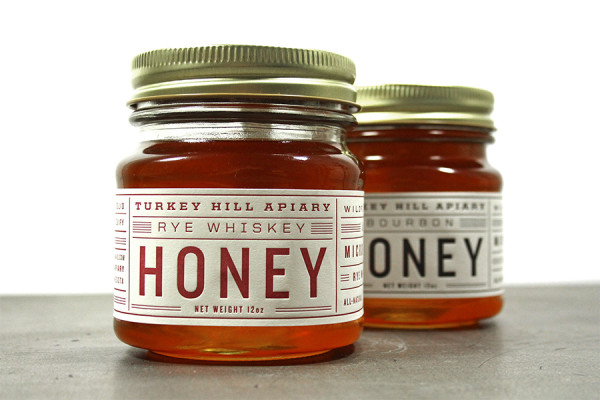 Typographic Honey Labels