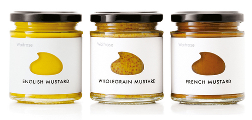 Custom Die-Cut Mustard Jar Labels