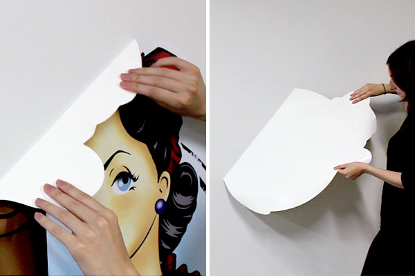 Removing a custom wall decal