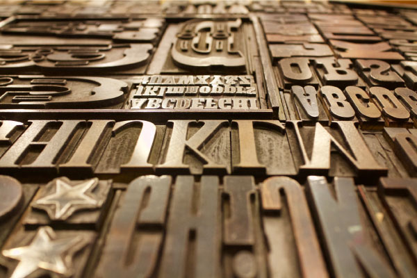 Various typographic letters