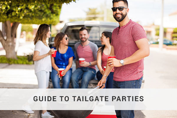 Group of people having a tailgate party