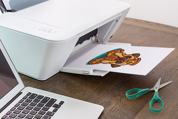 Iron-on being printed from home printer