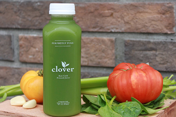 clover organic cold pressed juice