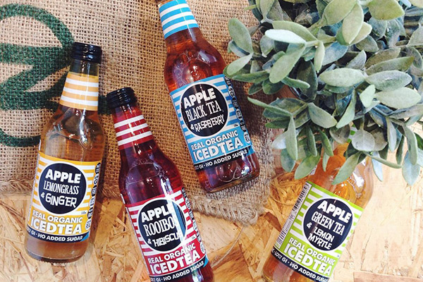 organic iced tea bottle labels