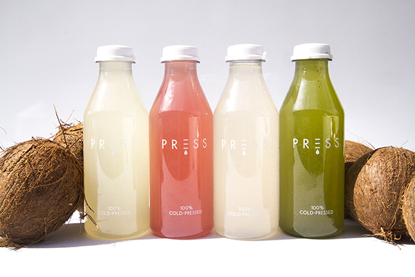 press organic cold pressed juice label