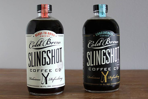 slingshot organic cold brew label
