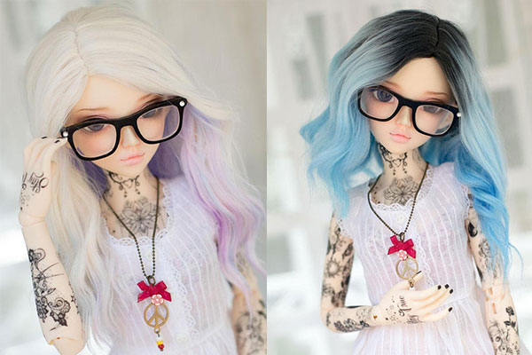 Dolls with tattoos temporary tattoos