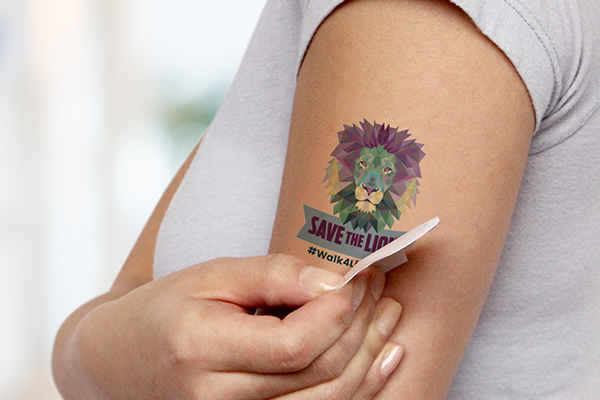 Temporary tattoo on a persons wrist