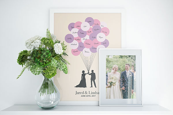 Frames wedding photo and sticker art