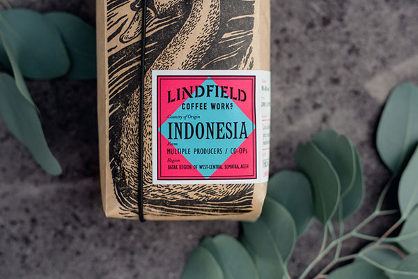 Lindfield coffee packaging with custom label