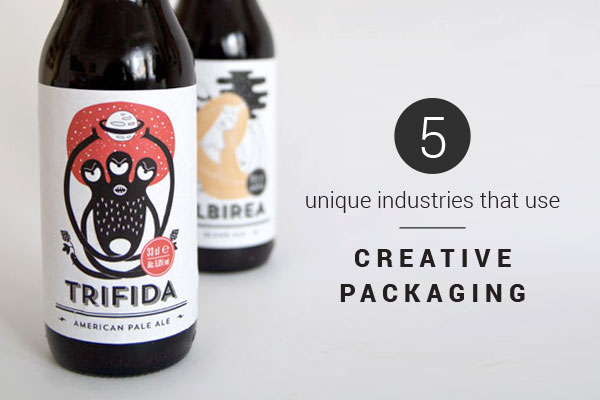Beer bottles with custom labels