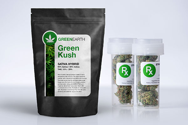 Marijuana packaging with custom labels