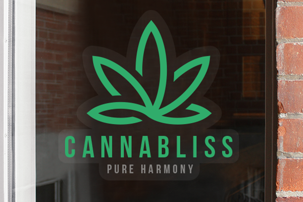 Cannabis branded window decal