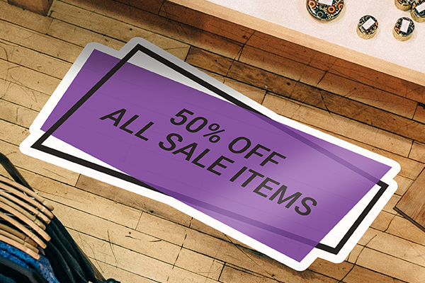 50% off Black Friday floor decal