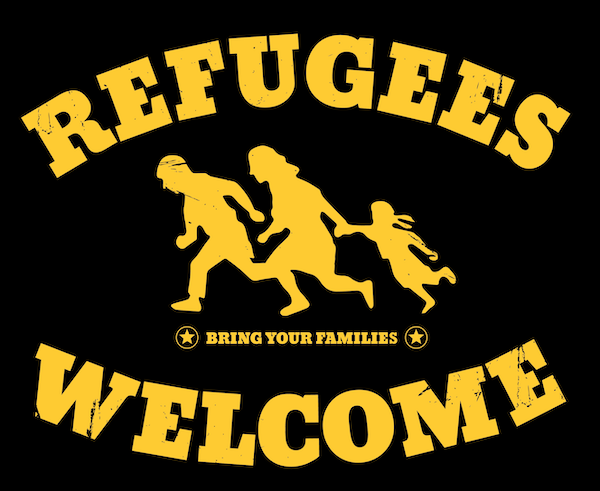 Refugees welcome art design