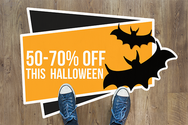 Halloween themed sale printed on floor decal