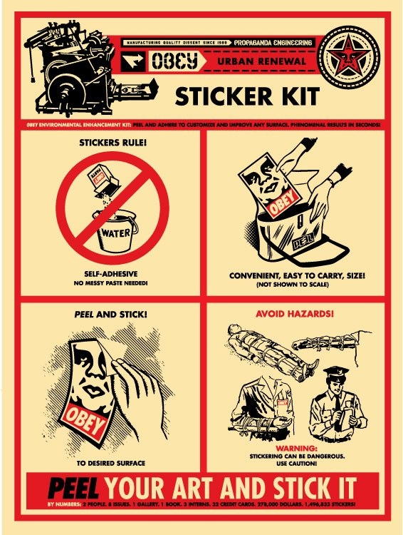 Obey sticker kit application chart