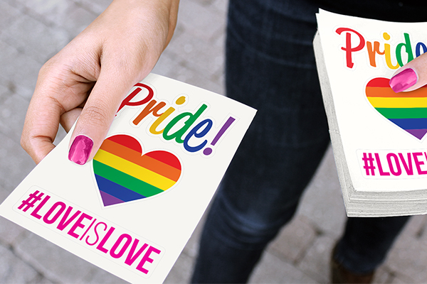 Die-cut Singles at a Pride event