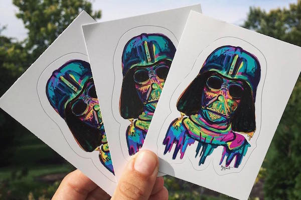 Kiss-cut Star Wars stickers