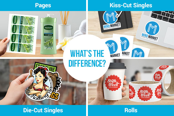 Pages vs. Kiss-Cut Singles vs. Die-Cut Singles vs. Rolls