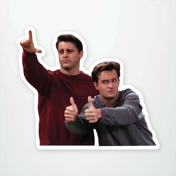 """Joey & Chandler"" Sticker"