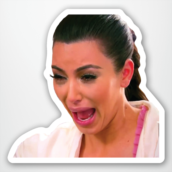 """Kim Kardashian Crying"" Sticker"