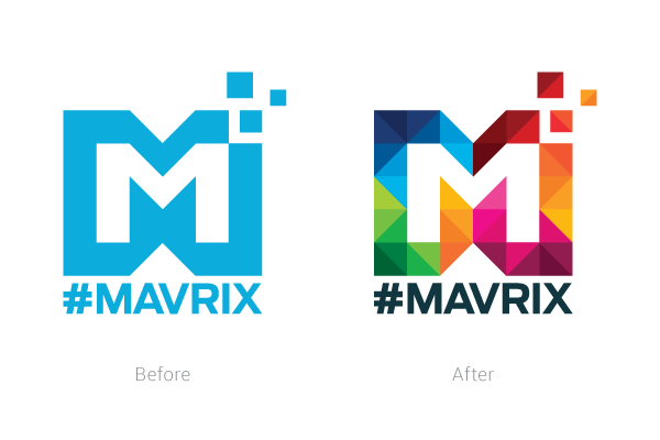 Before vs. after logo redesign