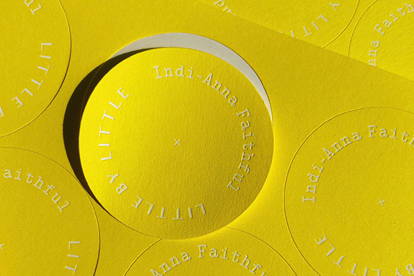 Florescent and embossed circle sticker