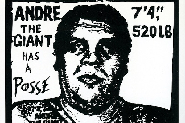 Shepard Faireys Andre the Giant has a posse sticker