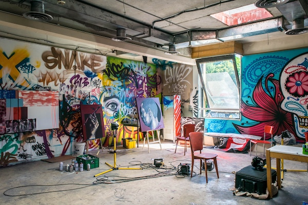Graffiti artists studio