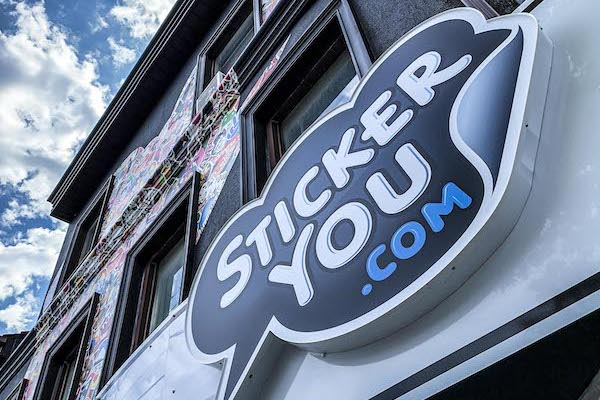 StickerYou store sign
