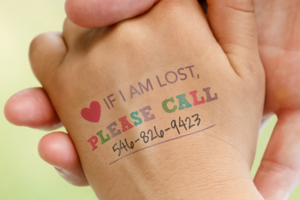 temporary tattoos for lost kids